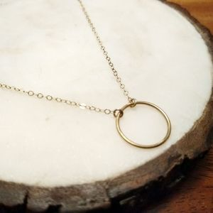 Circle Necklace Gold fill